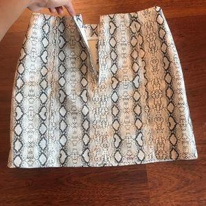 Kustom Newbury Skirts - Snake Print Mini Skirt